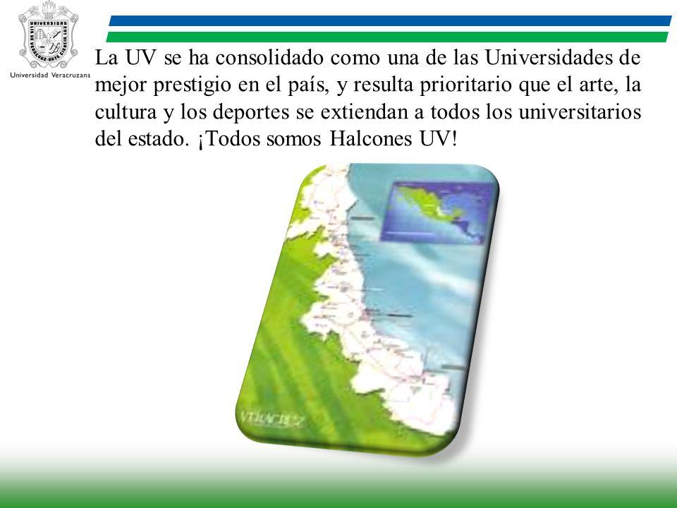 La UV se ha consolidado como una de las Universidades de mejor prestigio en el país, y resulta prioritario que el arte, la cultura y los deportes se e