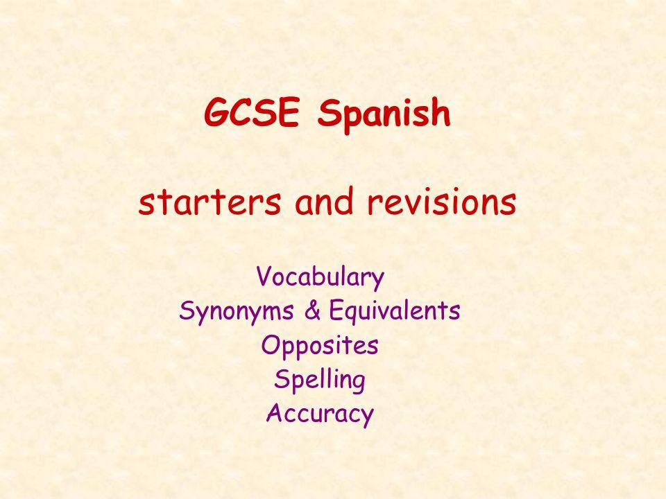 Vocabulario esencial (cf.