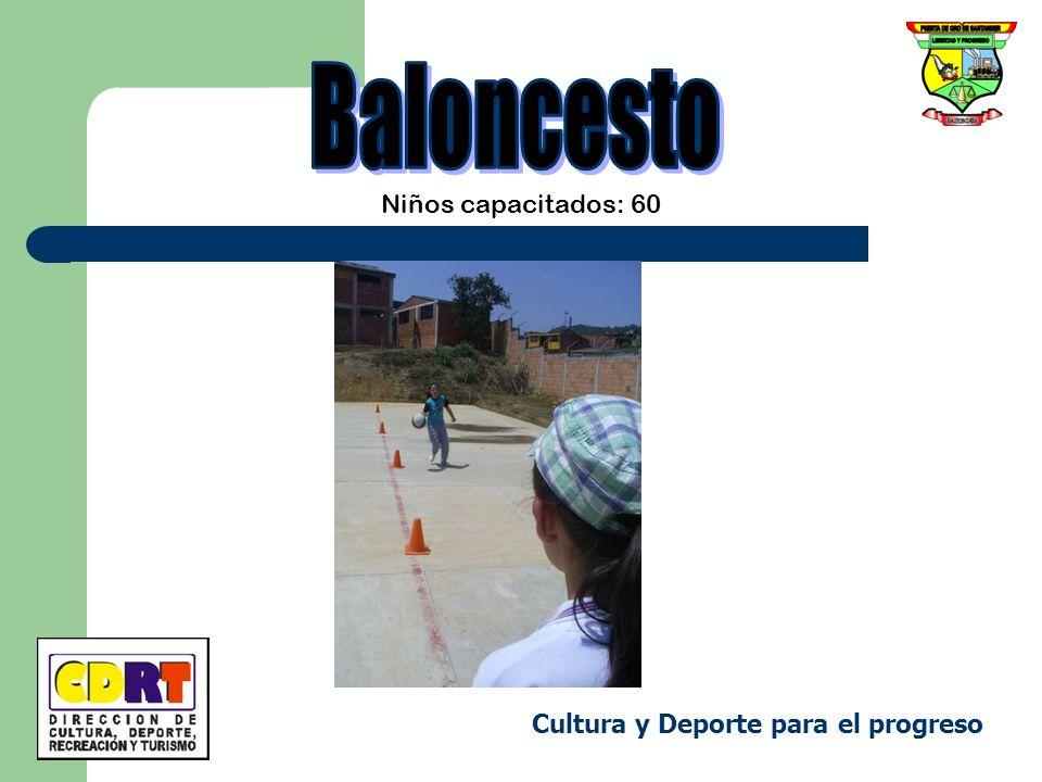 Niños capacitados: 60 Cultura y Deporte para el progreso