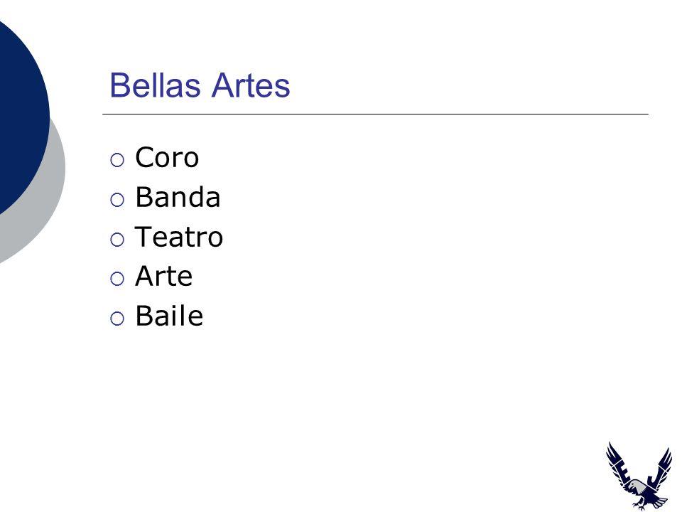 Bellas Artes Coro Banda Teatro Arte Baile
