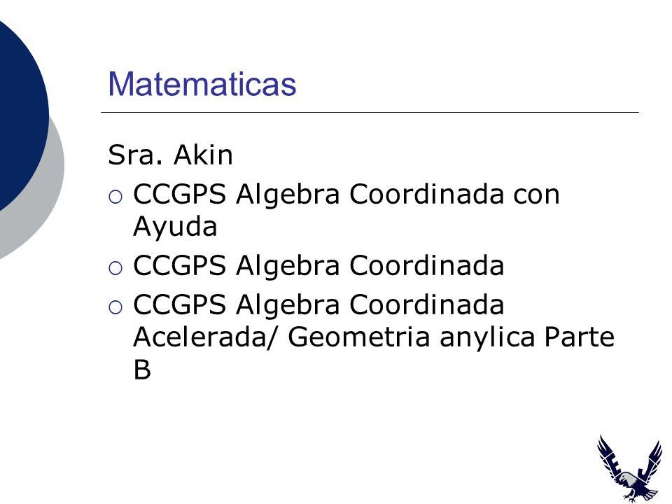 Matematicas Sra.