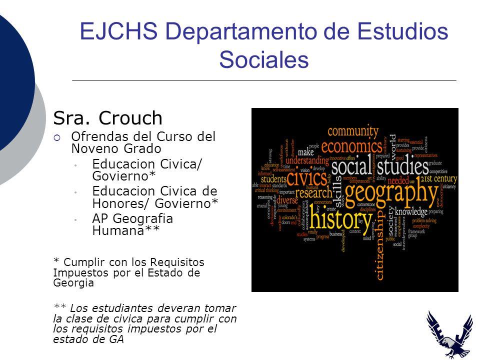 EJCHS Departamento de Estudios Sociales Sra.