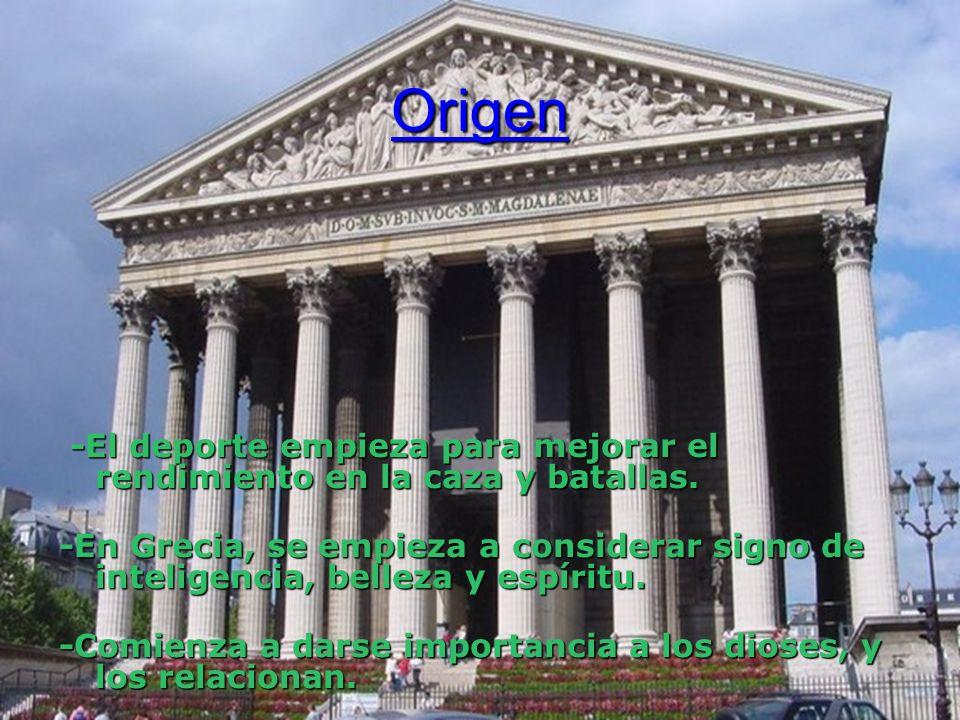 Origen -El deporte empieza para mejorar el rendimiento en la caza y batallas.