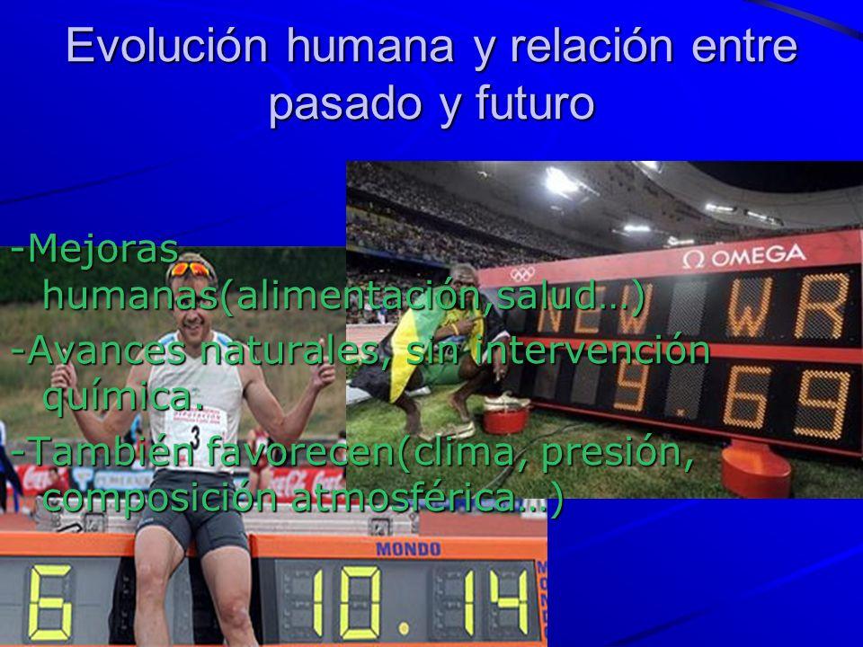 Evolución humana y relación entre pasado y futuro -Mejoras humanas(alimentación,salud…) -Avances naturales, sin intervención química.