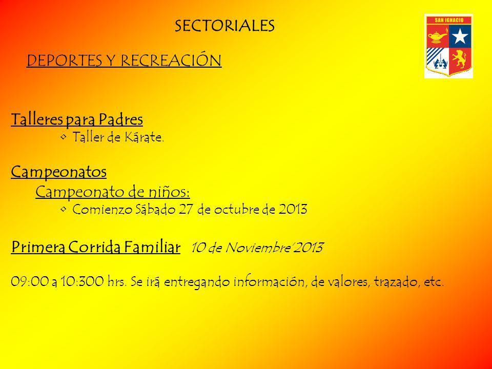 DEPORTES Y RECREACIÓN Talleres para Padres Taller de Kárate.