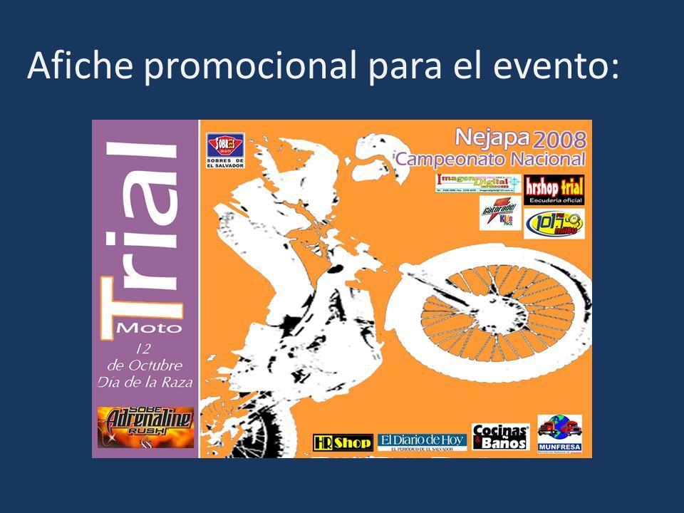 Afiche promocional para el evento: