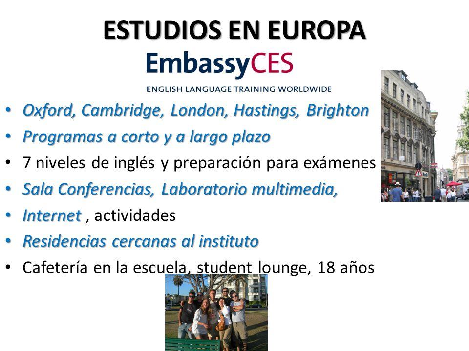 ESTUDIOS EN EUROPA Escuela privada Escuela privada en el centro de Paris Semanas, vacaciones, meses o un año Semanas, vacaciones, meses o un año A 20