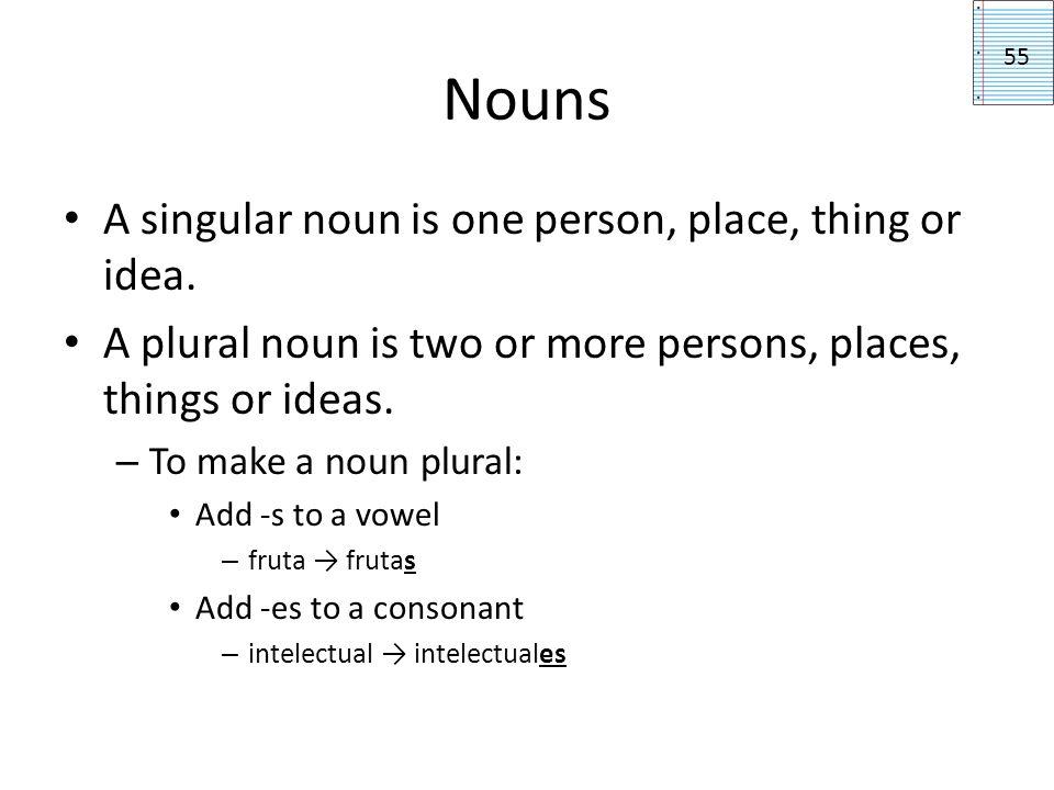Definite Articles A definite article specifies the noun.