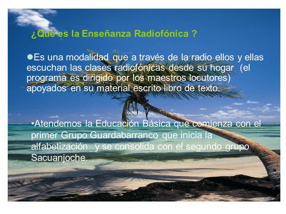 ¿Qué es la Enseñanza Radiofónica .