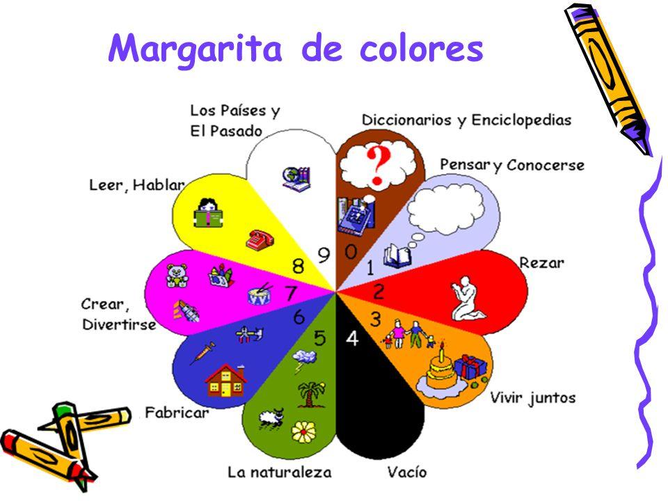 Estantería basada en la Margarita de Colores