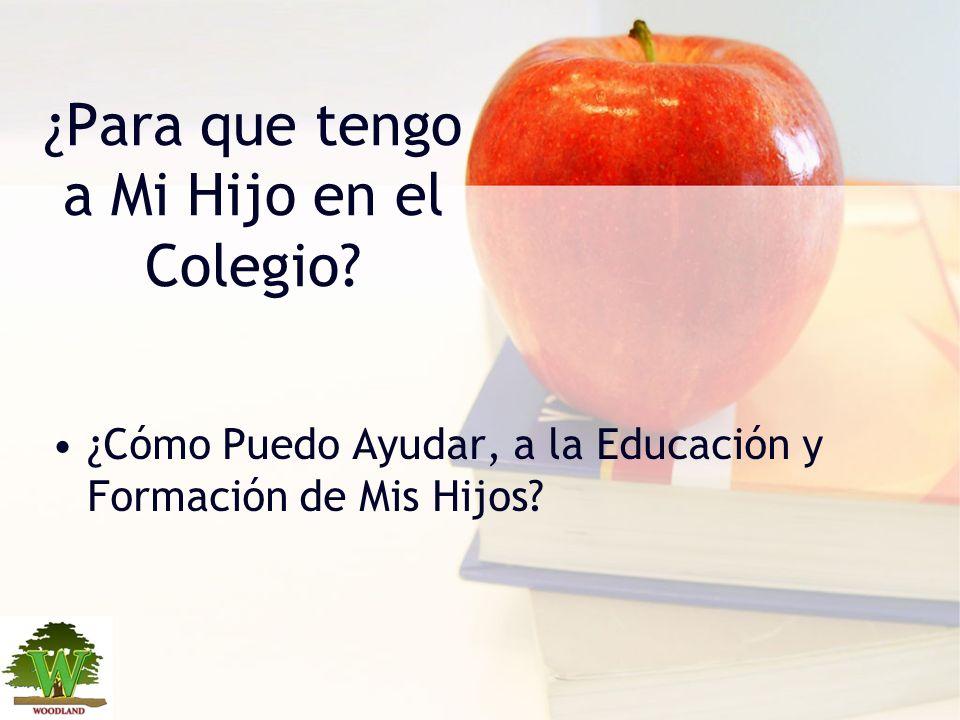 ¿Para que tengo a Mi Hijo en el Colegio? ¿Cómo Puedo Ayudar, a la Educación y Formación de Mis Hijos?