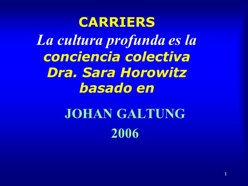 2 La cultura profunda es la conciencia colectiva = carriers Si diferentes carriers dan el mismo mensaje, a los 16, asimilaste.