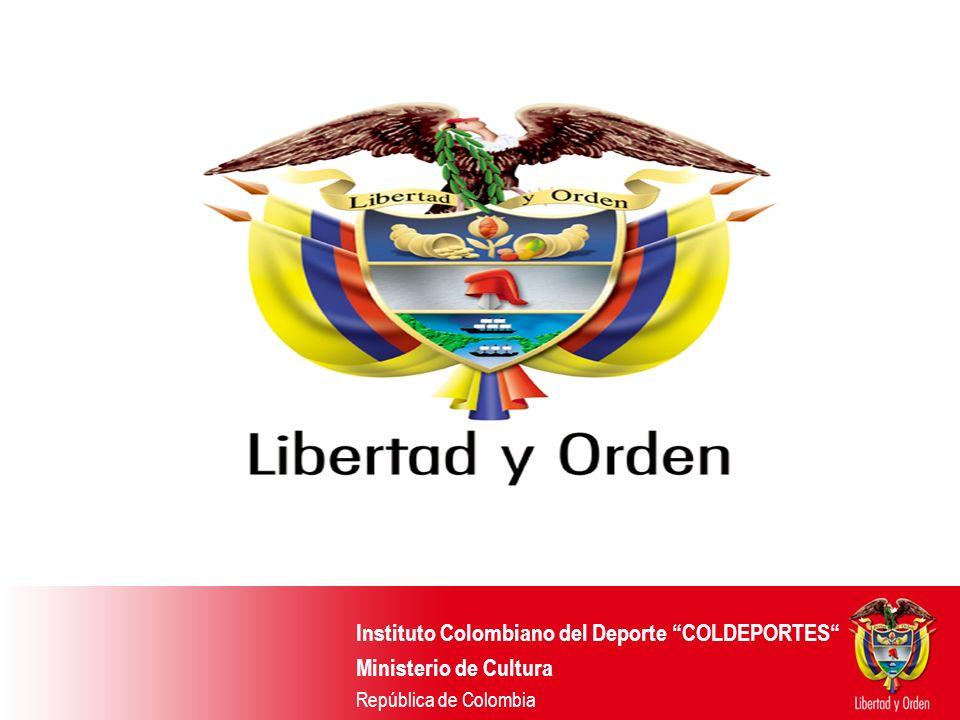 Instituto Colombiano del Deporte COLDEPORTES Ministerio de Cultura República de Colombia