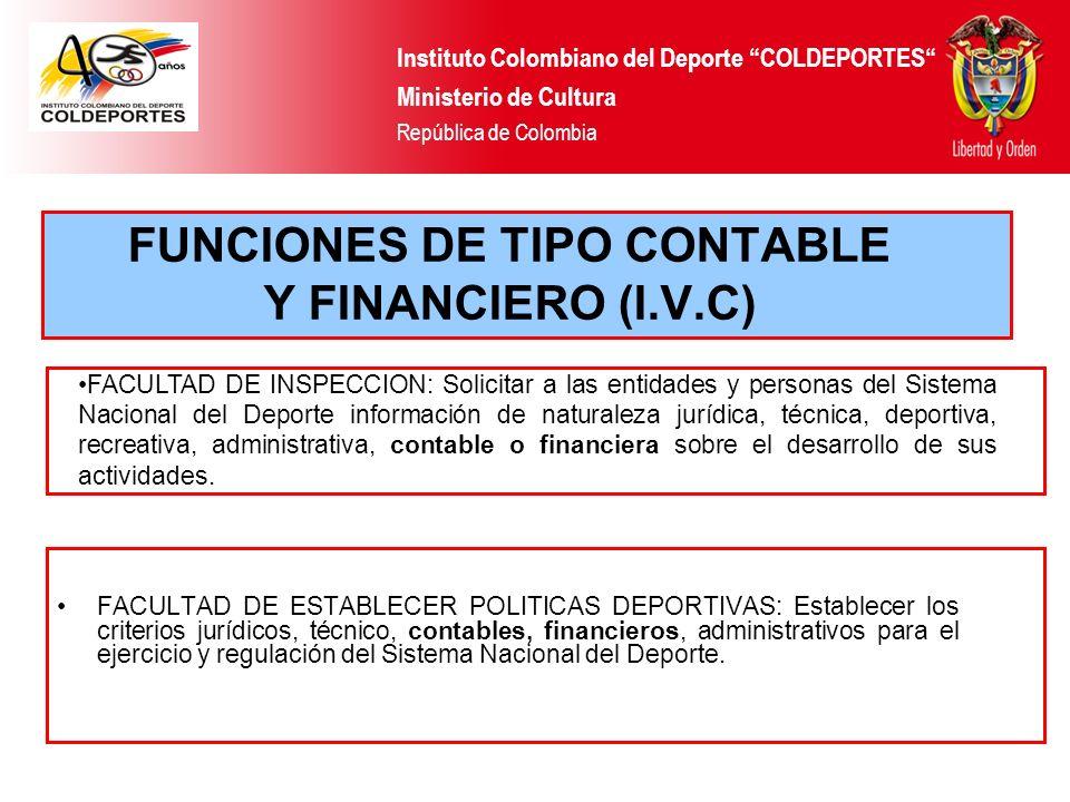 FACULTAD DE ESTABLECER POLITICAS DEPORTIVAS: Establecer los criterios jurídicos, técnico, contables, financieros, administrativos para el ejercicio y