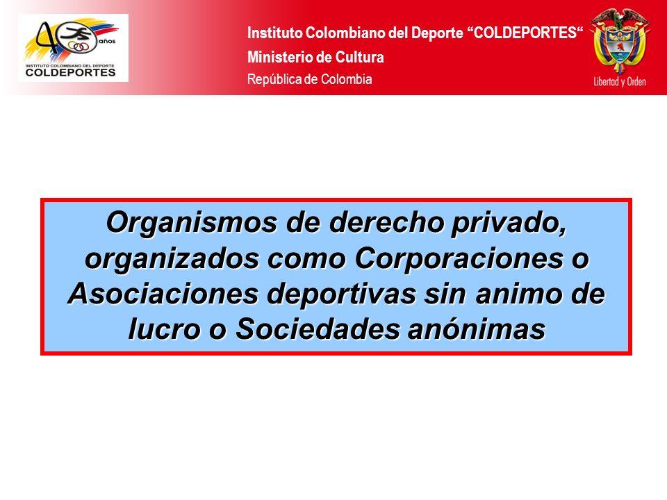 Ministerio de Cultura Instituto Colombiano del Deporte - Coldeportes República de Colombia Ministerio de Cultura Instituto Colombiano del Deporte - Co