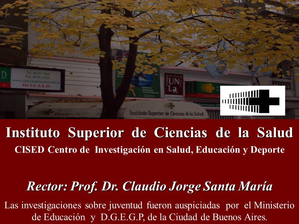Actividad física y vida sedentaria INSTITUTO SUPERIOR DE CIENCIAS DE LA SALUD, 2009