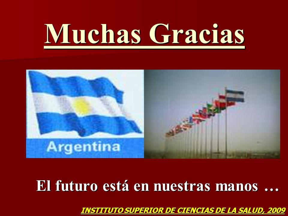 Muchas Gracias El futuro está en nuestras manos … INSTITUTO SUPERIOR DE CIENCIAS DE LA SALUD, 2009