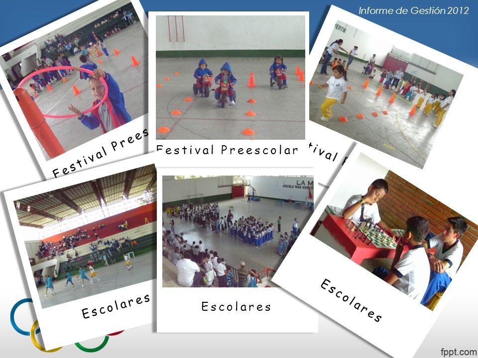Festival Preescolar Informe de Gestión 2012 Festival Preescolar Escolares