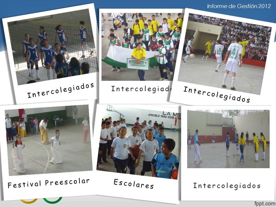 Informe de Gestión 2012 Escolares Intercolegiados Festival Preescolar