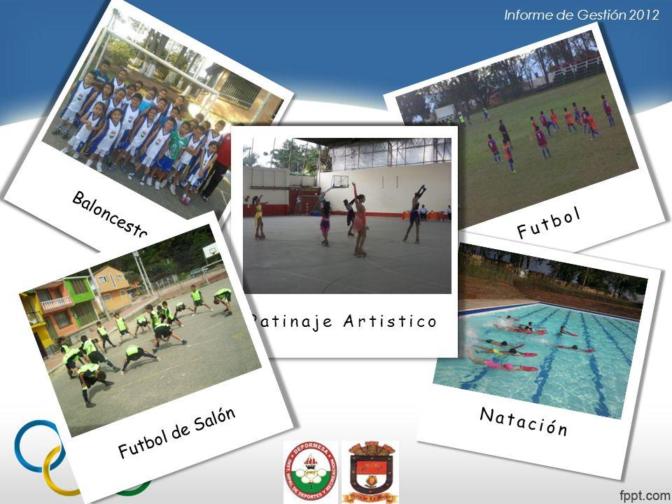 Informe de Gestión 2012 Futbol Natación Futbol de Salón