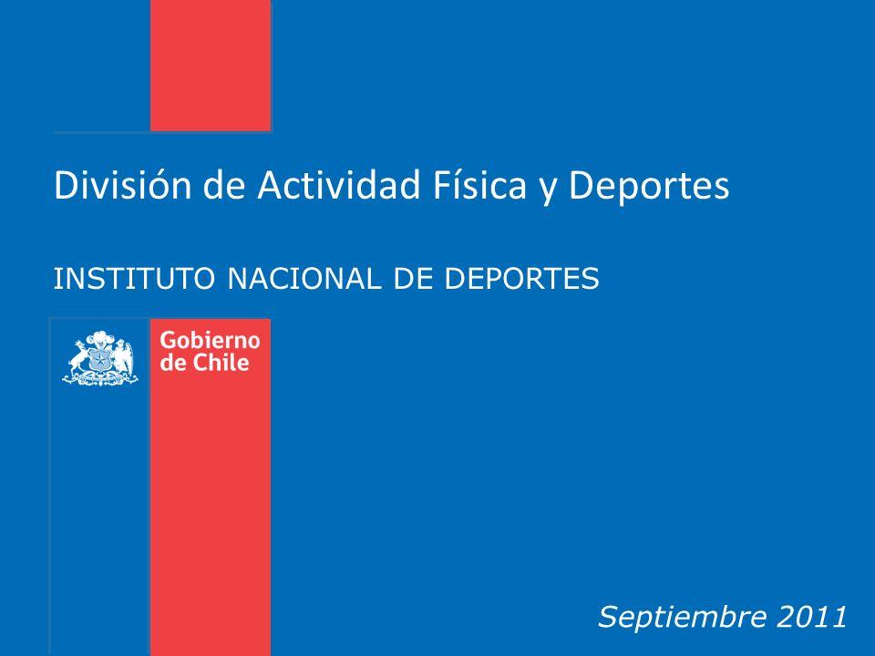 INSTITUTO NACIONAL DE DEPORTES Septiembre 2011 División de Actividad Física y Deportes