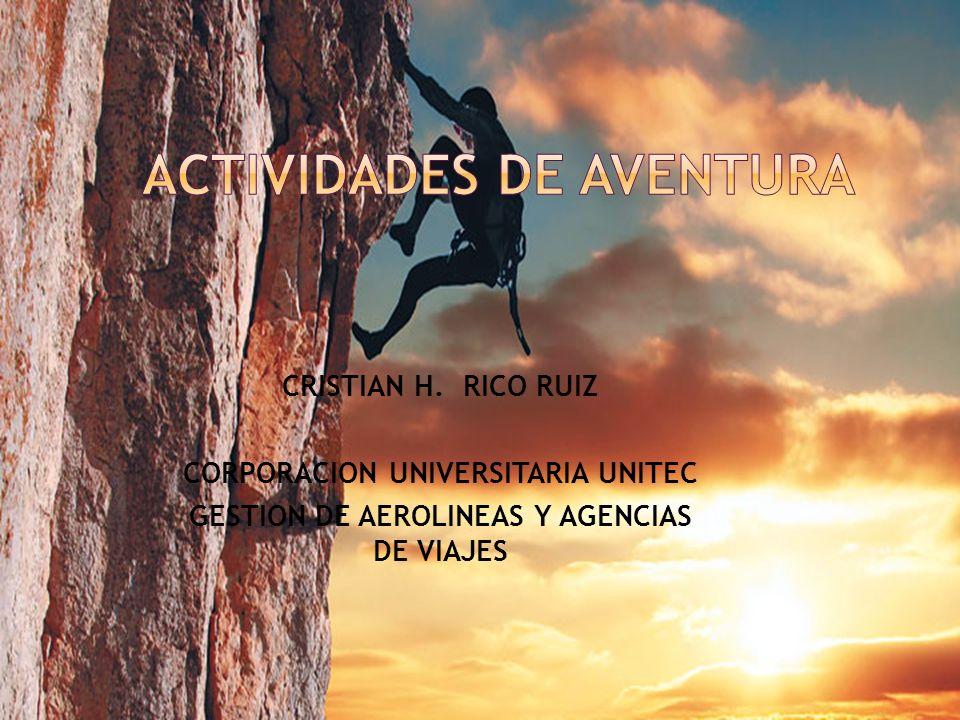CRISTIAN H. RICO RUIZ CORPORACION UNIVERSITARIA UNITEC GESTION DE AEROLINEAS Y AGENCIAS DE VIAJES