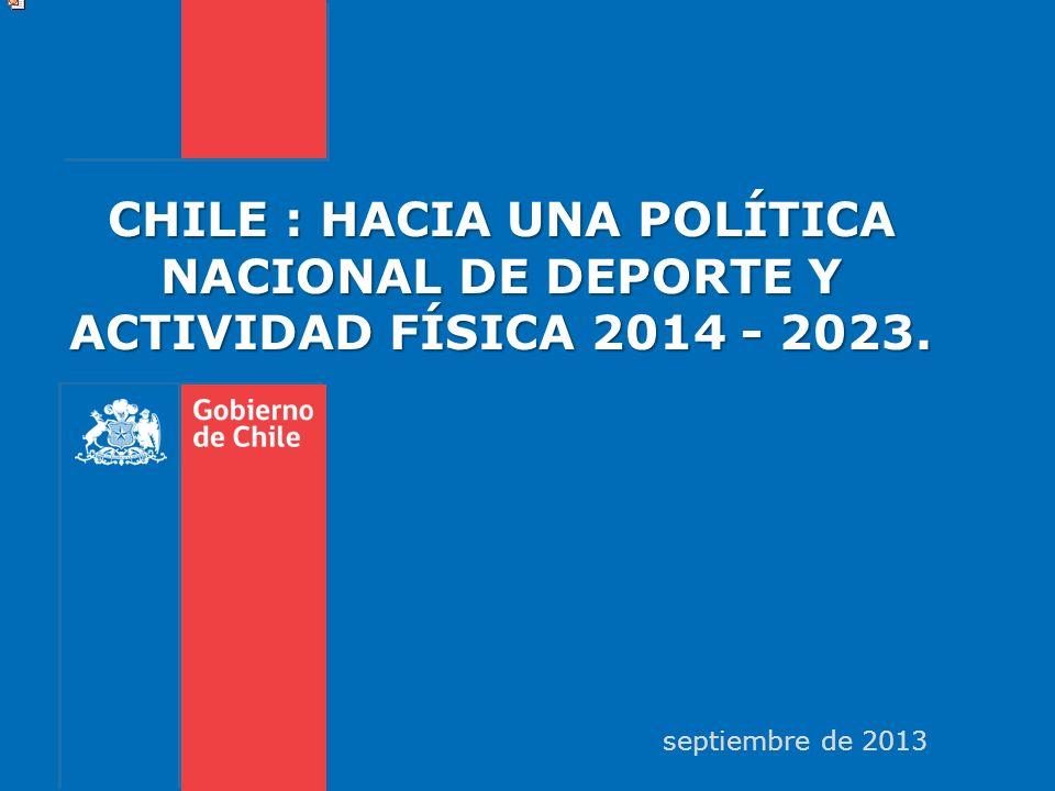 CHILE : HACIA UNA POLÍTICA NACIONAL DE DEPORTE Y ACTIVIDAD FÍSICA 2014 - 2023. septiembre de 2013