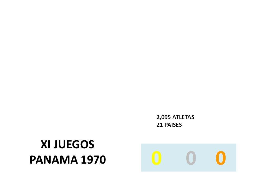 XI JUEGOS PANAMA 1970 2,095 ATLETAS 21 PAISES 0 0 0