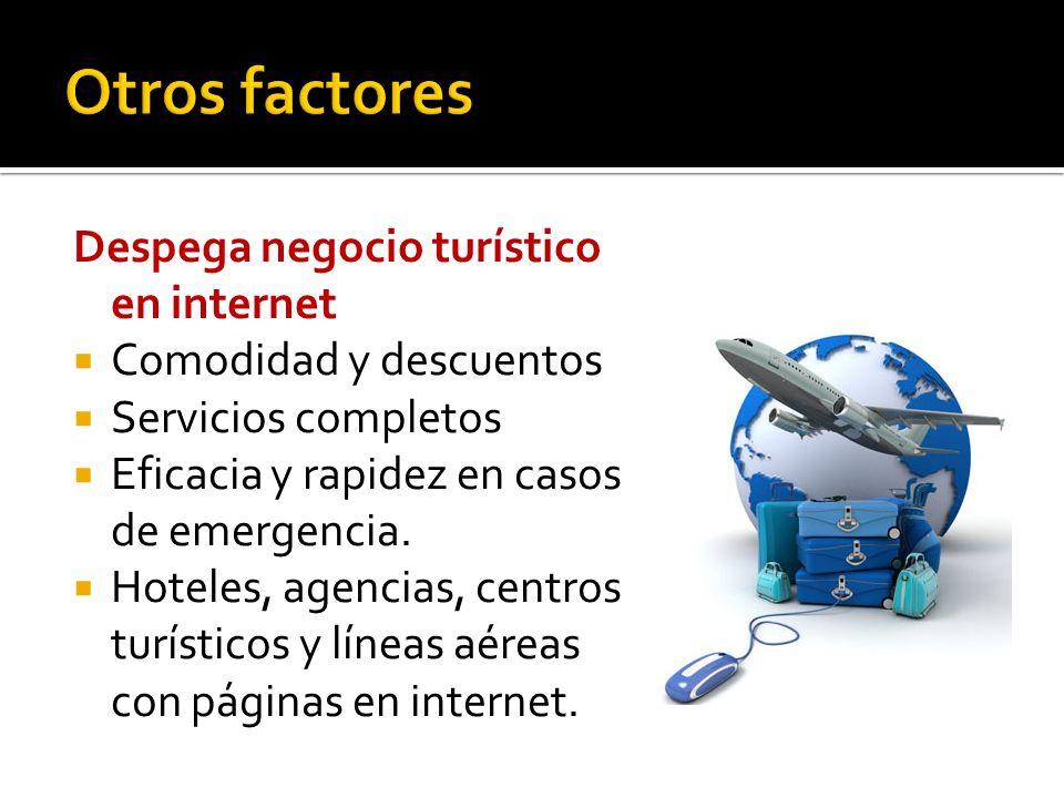 Despega negocio turístico en internet Comodidad y descuentos Servicios completos Eficacia y rapidez en casos de emergencia.
