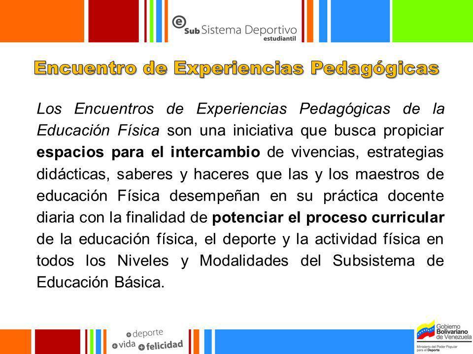 Los Encuentros de Experiencias Pedagógicas de la Educación Física son una iniciativa que busca propiciar espacios para el intercambio de vivencias, es