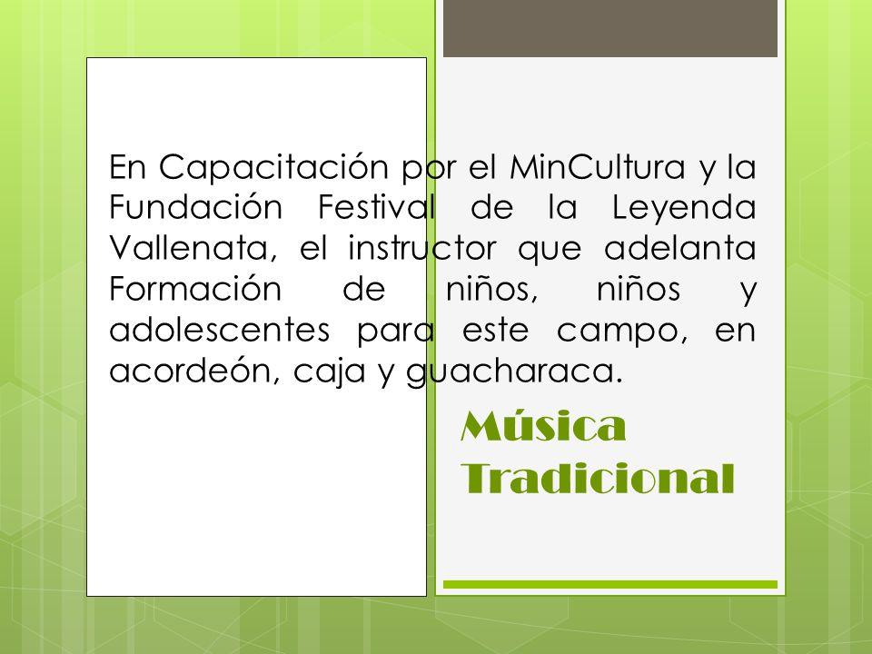 En Capacitación por el MinCultura y la Fundación Festival de la Leyenda Vallenata, el instructor que adelanta Formación de niños, niños y adolescentes