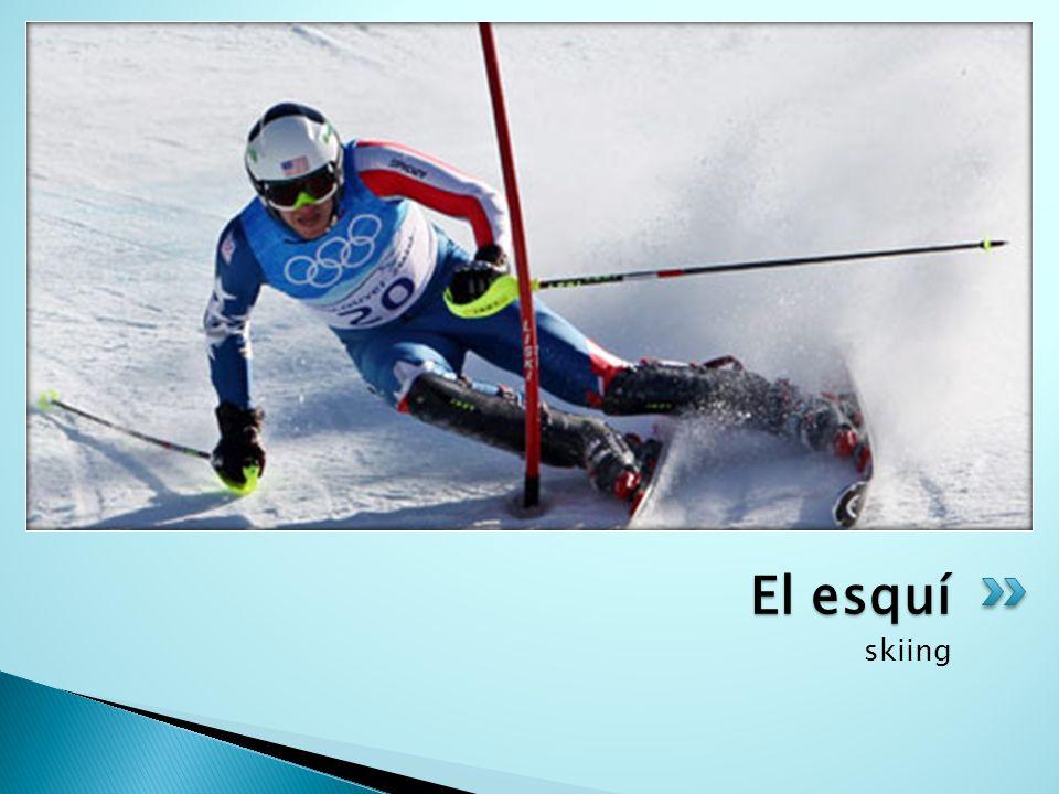skiing El esquí