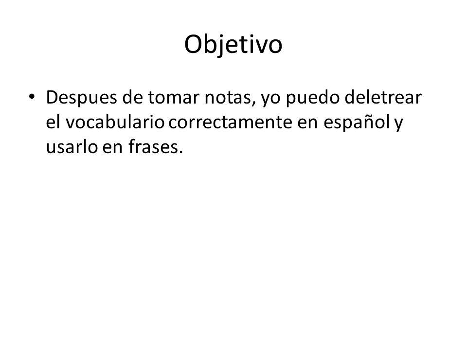 Deletrear en español