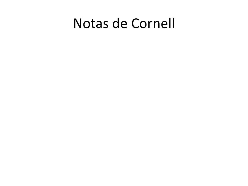 Notas de Cornell