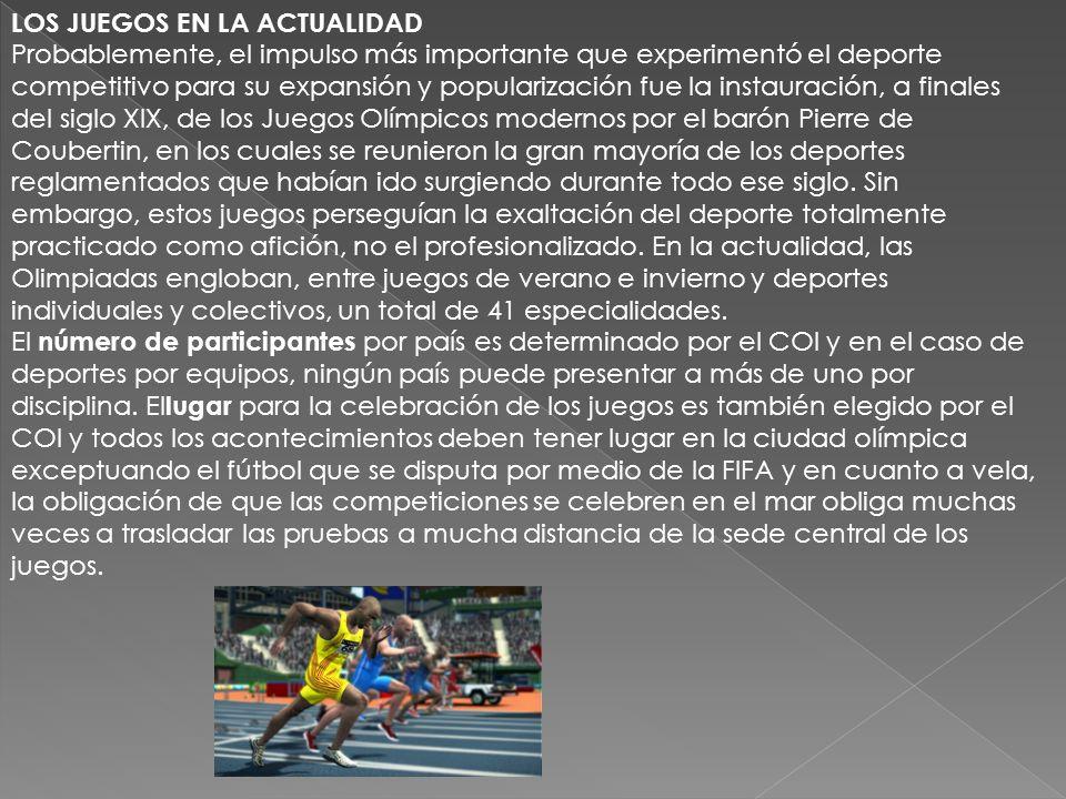 Los Juegos Olímpicos u Olimpíadas son el más fastuoso, importante y presenciado evento deportivo de la Humanidad. Los mejores atletas de todo el mundo
