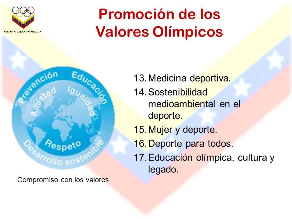 Promoción de los Valores Olímpicos 13.Medicina deportiva.