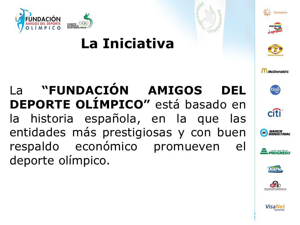 La Iniciativa La FUNDACIÓN AMIGOS DEL DEPORTE OLÍMPICO está basado en la historia española, en la que las entidades más prestigiosas y con buen respal