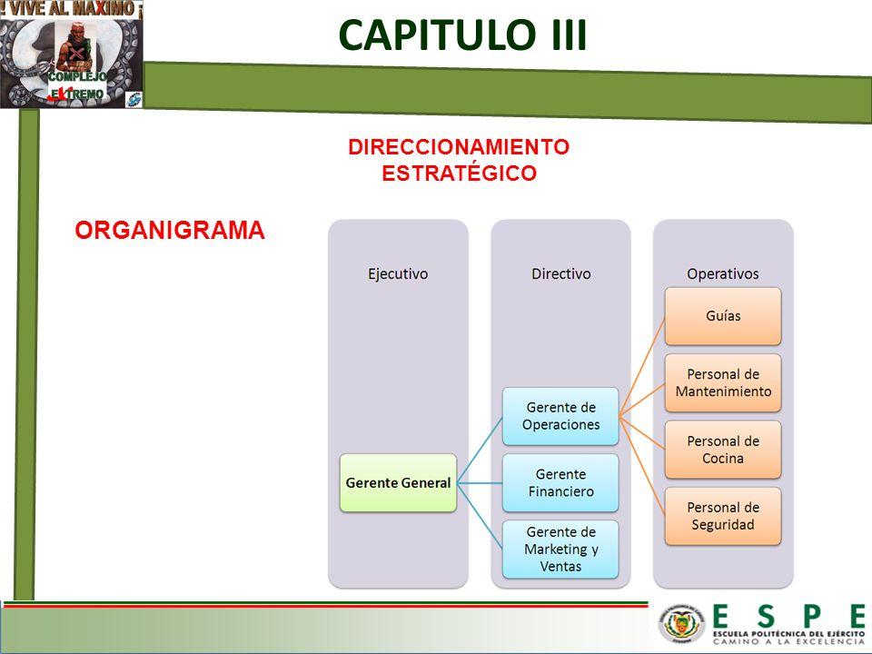 CAPITULO III DIRECCIONAMIENTO ESTRATÉGICO ORGANIGRAMA