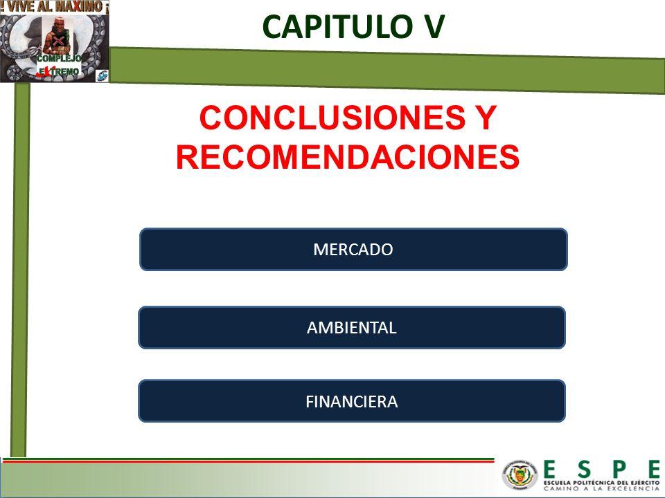 CONCLUSIONES Y RECOMENDACIONES CAPITULO V MERCADO AMBIENTAL FINANCIERA