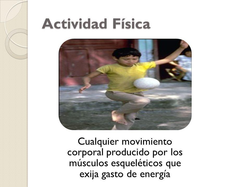 Cualquier movimiento corporal producido por los músculos esqueléticos que exija gasto de energía