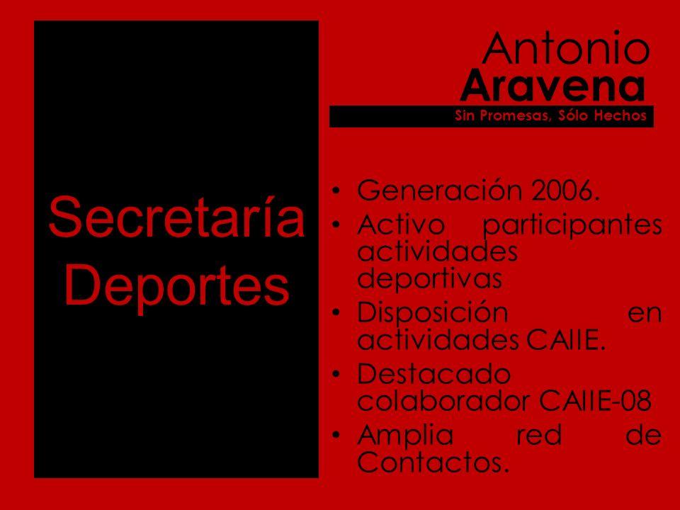Secretaría Deportes Generación 2006.