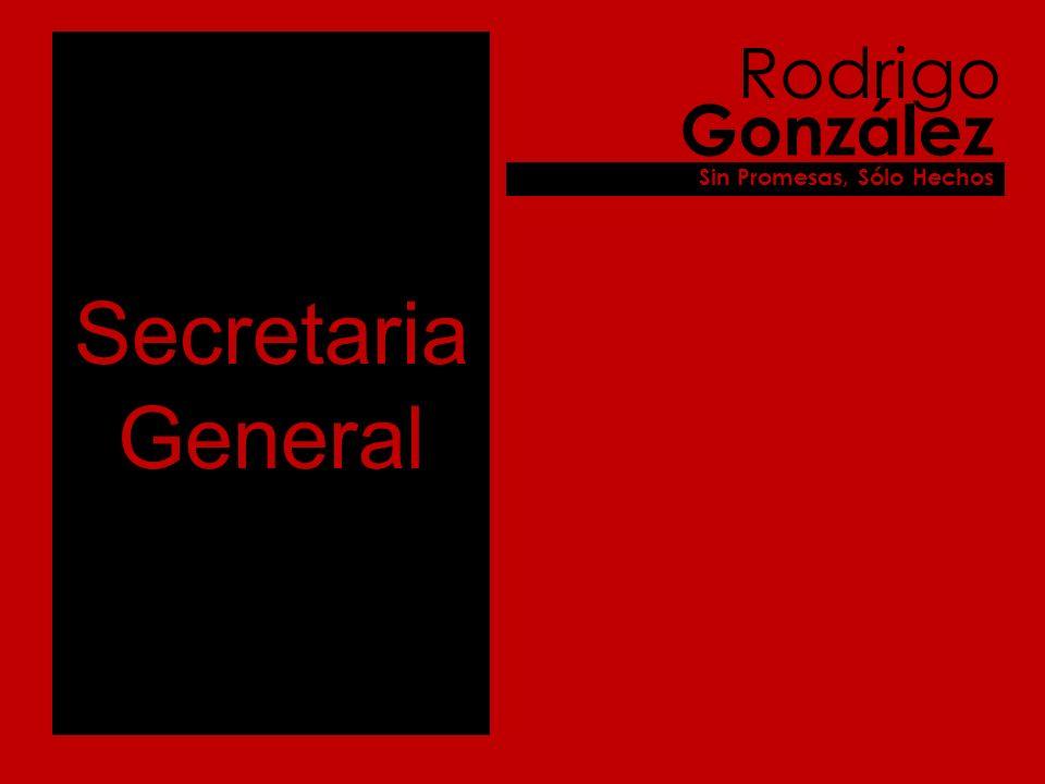 Secretaria General Rodrigo González Sin Promesas, Sólo Hechos