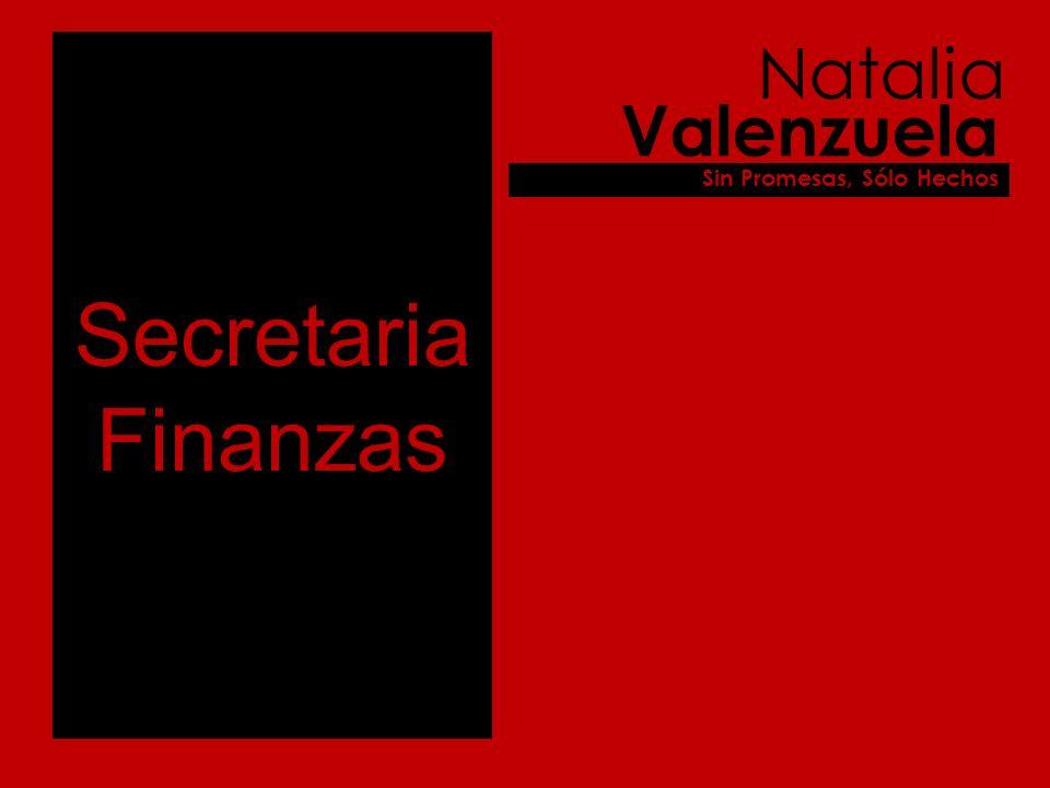 Secretaria Finanzas Natalia Valenzuela Sin Promesas, Sólo Hechos