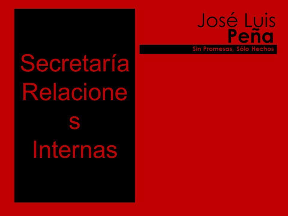 Secretaría Relacione s Internas José Luis Peña Sin Promesas, Sólo Hechos