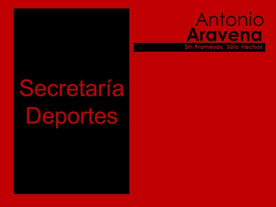 Secretaría Deportes Antonio Aravena Sin Promesas, Sólo Hechos