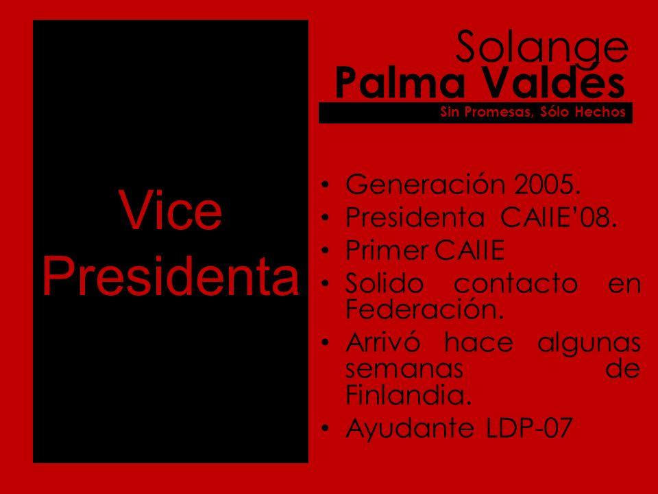 Vice Presidenta Generación 2005. Presidenta CAIIE08.