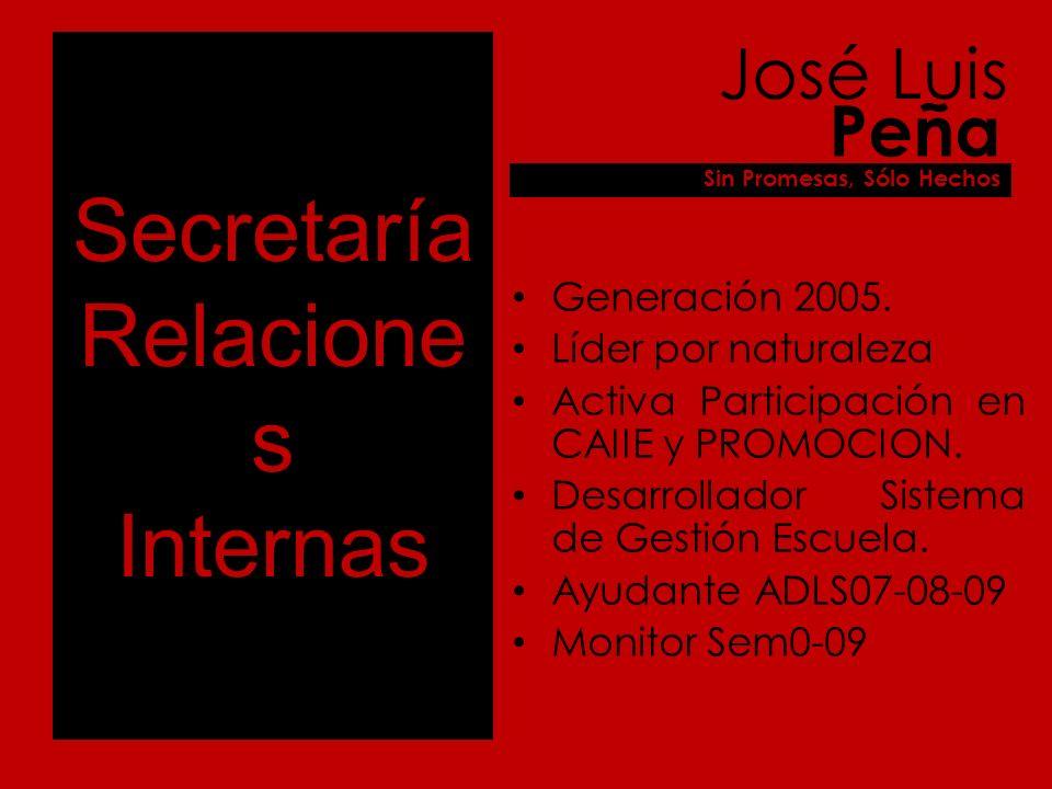 Secretaría Deportes Generación 2007.Destacado alumno.