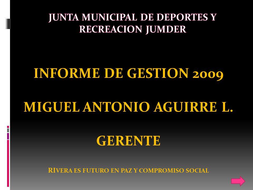 INFORME DE GESTION 2009 MIGUEL ANTONIO AGUIRRE L.
