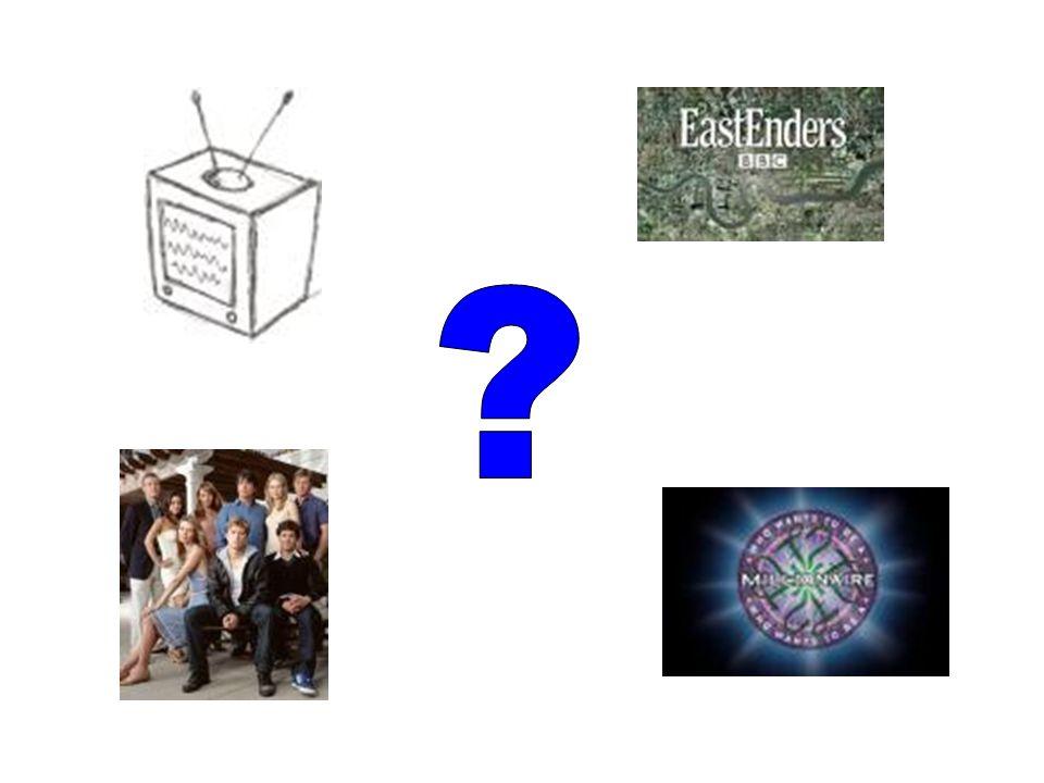 ¿Qué vamos a estudiar hoy? ¿Qué ves normalmente en la televisión?