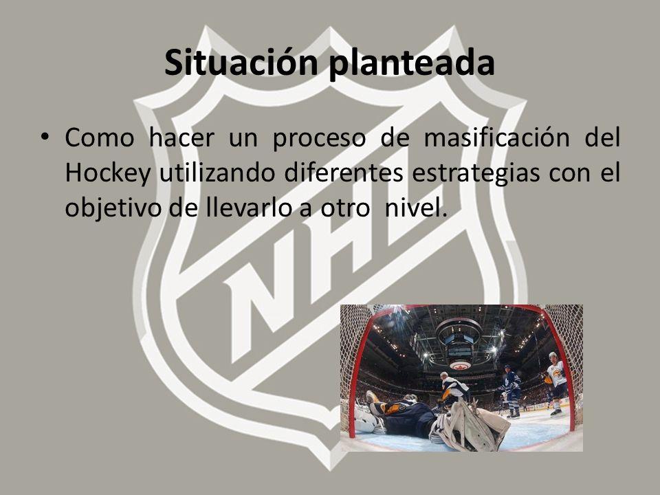 Situación planteada Como hacer un proceso de masificación del Hockey utilizando diferentes estrategias con el objetivo de llevarlo a otro nivel.